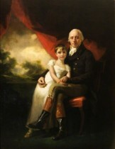 Jane W. Stirling and her father - John Stirling of Kippendavie - by Henry Raeburn